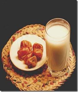تمر وحليب
